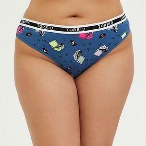 torrid Size 2x Logo Navy Record Thong Panty